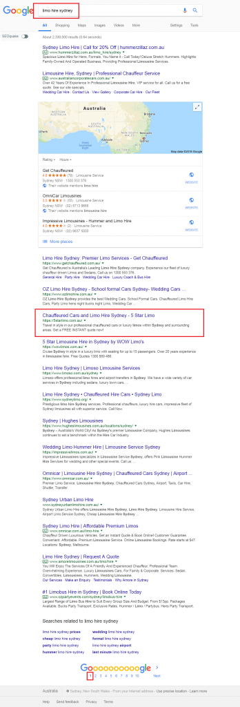 google-first-page-ranking