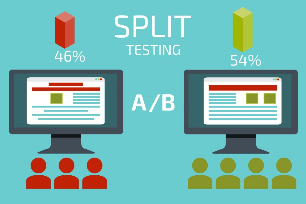 google ads ab split testing