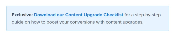 content upgrade lead magnet