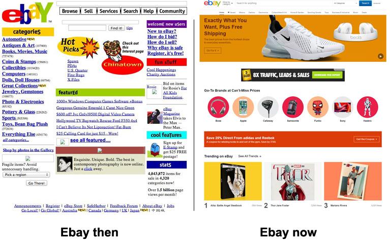 web design then vs now